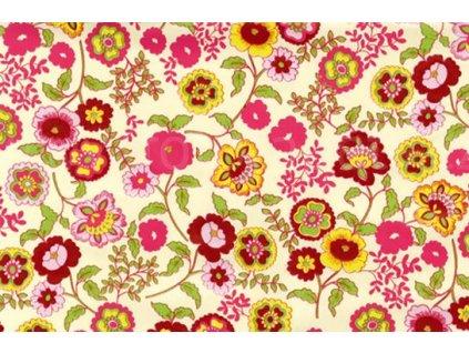 Samolepící fólie imitace Decor, Růžové květiny