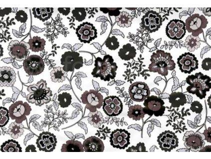 Samolepící fólie imitace Decor, Černé a šedé květiny