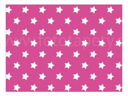 Samolepící fólie imitace Decor, Růžové hvězdy
