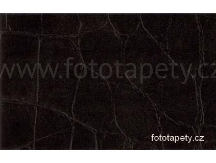 Koženka samolepící s plastickým vzorem Kroko schwarz, šíře 45 cm