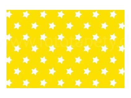 Samolepící fólie imitace Decor, Žluté hvězdy