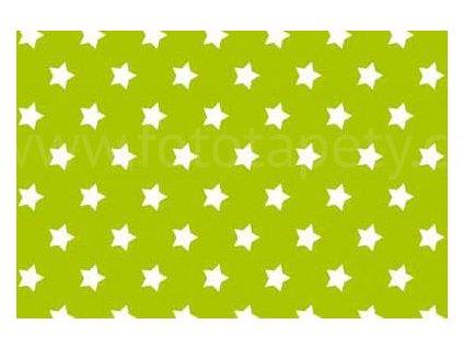 Samolepící fólie imitace Decor, Zelené hvězdy