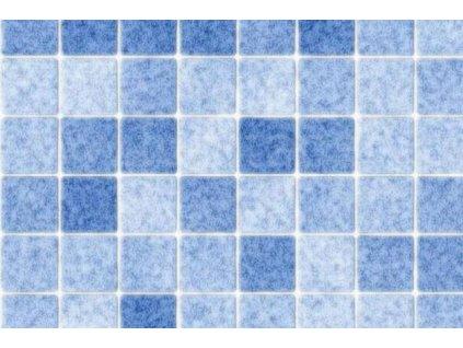 Samolepící folie imitace obkladaček, Modrá mozaika
