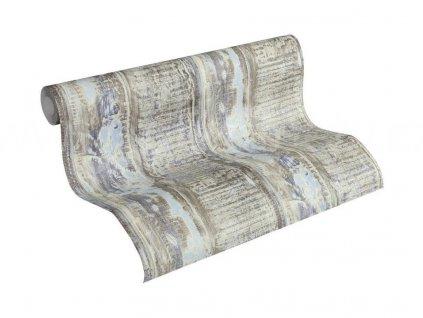 Vliesová tapeta na zeď Best of Wood & Stone 2, 0,53x10,05m, 3541-32 - modro béžové dřevěné desky