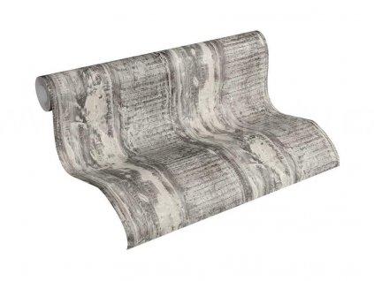 Vliesová tapeta na zeď Best of Wood & Stone 2, 0,53x10,05m, 3541-33 - šedo béžové dřevěné desky