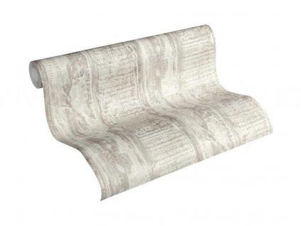 Vliesová tapeta na zeď Best of Wood & Stone 2, 0,53x10,05m, 3541-34 - šedo krémové dřevěné desky