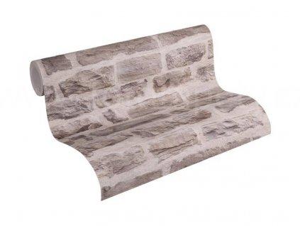 Vliesová tapeta na zeď Best of Wood & Stone 2, 0,53x10,05m, 3558-01 - kamenná zeď
