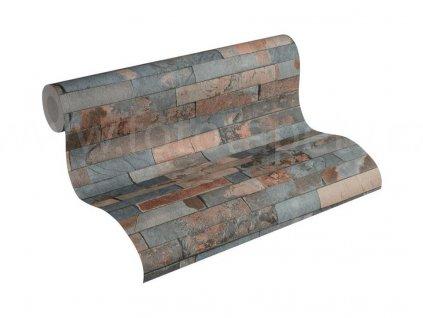 Vliesová tapeta na zeď Best of Wood & Stone 2, 0,53x10,05m, 3558-23- břidlicový obklad