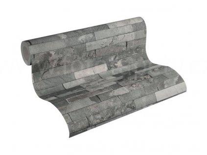 Vliesová tapeta na zeď Best of Wood & Stone 2, 0,53x10,05m, 3558-24- břidlicový obklad