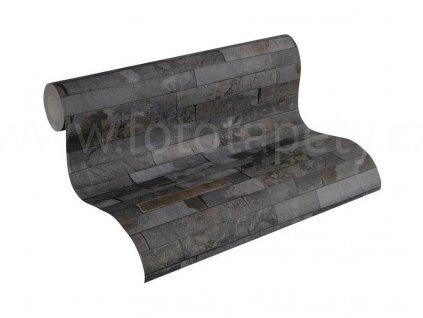 Vliesová tapeta na zeď Best of Wood & Stone 2, 0,53x10,05m, 3558-25- břidlicový obklad