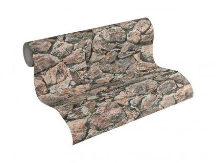 Vliesová tapeta na zeď Best of Wood & Stone 2, 0,53x10,05m, 3558-31 - kamenná zeď