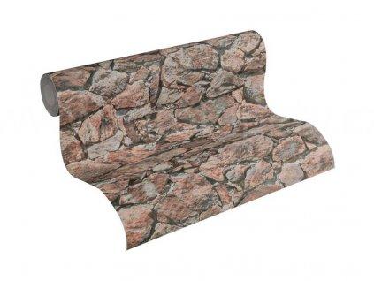 Vliesová tapeta na zeď Best of Wood & Stone 2, 0,53x10,05m, 3558-32 - kamenná zeď