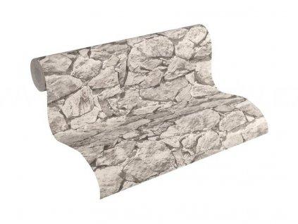 Vliesová tapeta na zeď Best of Wood & Stone 2, 0,53x10,05m, 3558-34 - kamenná zeď