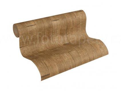 Vliesová tapeta na zeď Best of Wood & Stone 2, 0,53x10,05m, 3558-43 - hnědá dřevěná prkna
