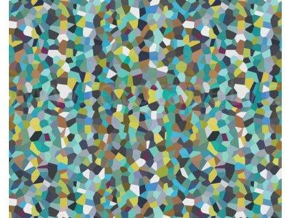 Samolepící fólie imitace Decor, Modrá a zelená mozaika