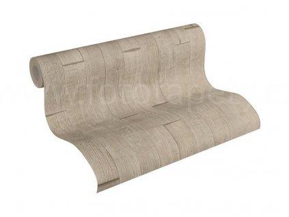 Vliesová tapeta na zeď Best of Wood & Stone 2, 0,53x10,05m, 3558-44 - hnědá dřevěná prkna