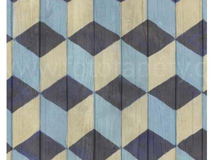 Samolepící fólie imitace Decor, Modré krychle