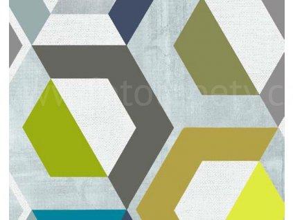 Samolepící fólie imitace Decor, Barevné šestiúhelníky