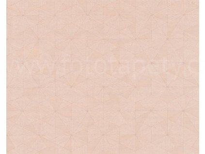 Vliesová tapeta Four Seasons, 0,53x10,05m, 3589-51- růžová geometrie