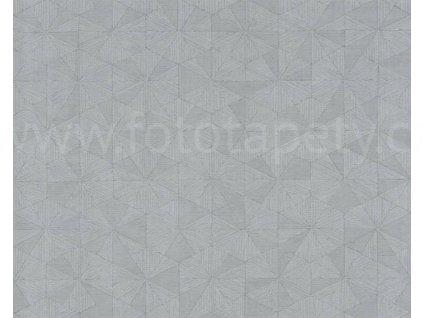 Vliesová tapeta Four Seasons, 0,53x10,05m, 3589-53- šedá geometrie
