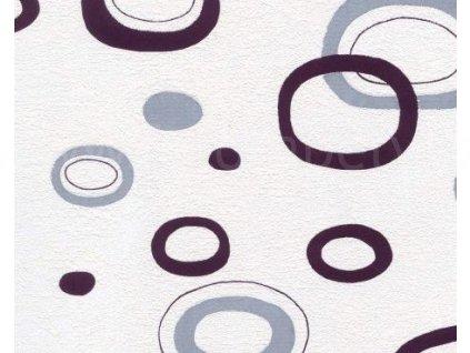 Bytová vinylová tapeta na zeď Hnědé a béžové kruhy 3640861