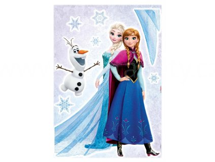 Samolepky na zeď Ledové království - Elsa a Anna, 50x70cm(15)