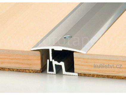 Přechodový podlahový profil PS 400, šíře 43mm, pro podlahu 7-17,5mm, výškový rozdíl do 8mm, doprodej (Varianta Přechodový profil PS 400 43mm, 270cm, havana)