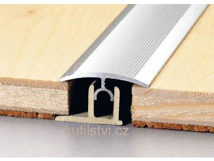 Přechodový podlahový profil PT Master, š. 34mm, podlaha 12-17,5mm, výškový rozdíl do 6mm, doprodej (Varianta Přechodová podlahová lišta PTM 34 (12/17,5), 270cm, buk)
