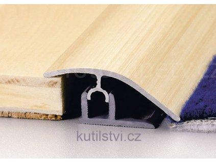 Přechodový podlahový profil PT Master, š. 47mm, podlaha 7-17,5mm, výškový rozdíl 0-17,5mm, doprodej (Varianta 270cm, buk)