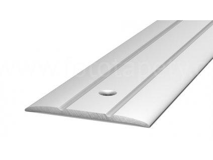 Přechodový profil upevněný vruty, šířka 38mm, hliník trvale eloxovaný (Varianta Přechodová podlahová lišta na vrut 38mm, 90cm, bronz)