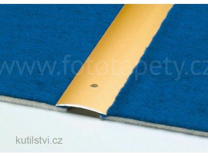 Přechodový profil upevněný vruty, šířka 40mm, hliník trvale eloxovaný, vhodný pro koberce (Varianta Přechodová podlahová lišta na vrut 40mm, 100cm, stříbrná)