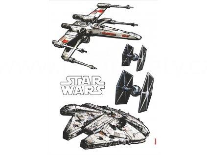 Samolepky na zeď Star Wars - Vesmírné lodě, 70x100cm