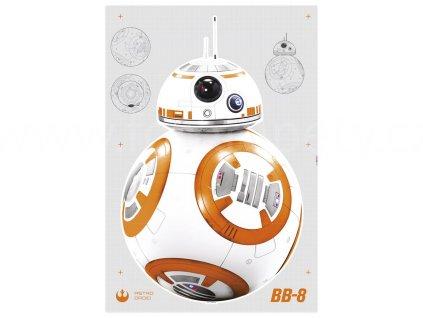 Samolepky na zeď Star Wars - Droid BB-8, 70x100cm