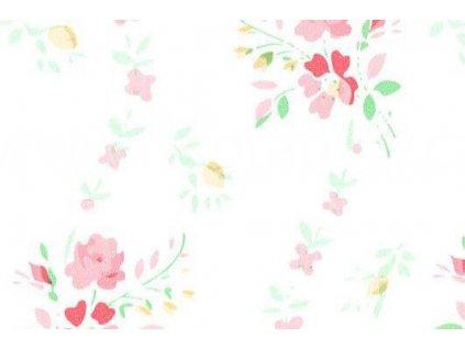 Samolepící fólie imitace Decor, Květiny červené