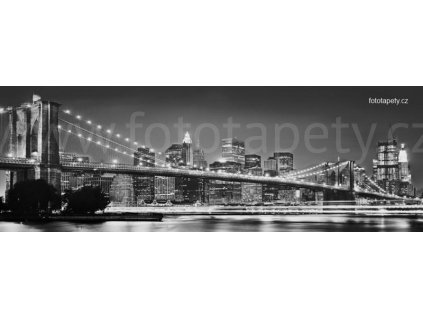 Čtyřdílná obrazová tapeta Brooklynský most, 368 x 127 cm, 4D 4-320