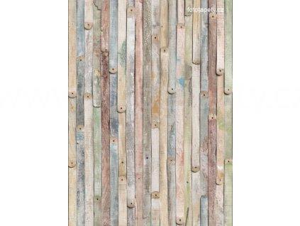 Čtyřdílná obrazová tapeta Dřevěná prkna 184x254 cm, 4D 4-910