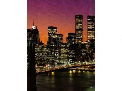 Obrazová tapeta čtyřdílná Noční Mahattan, 183cmx254cm, 4D ID 331- skladem poslední 1ks!