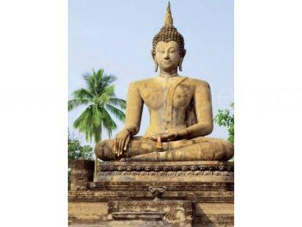 Obrazová tapeta čtyřdílná Buddha, šířka 183cm, výška 254, 4D ID 378