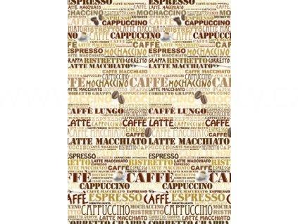Obrazová tapeta čtyřdílná Kafé, šířka 182 cm, výška 254, 4D ID 424