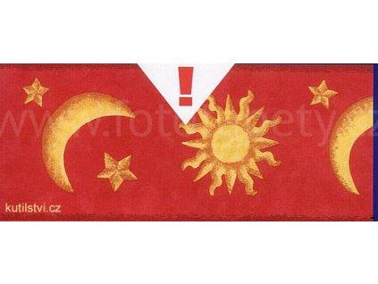 Bordura měsíc a hvězdy - samolepící šíře 10,6cm, délka 10m,skladem poslední 1ks!!