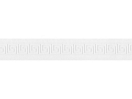 Vinylová bordura Only borders 10 - Bílá geometrie, 10cmx5m, 6401-16