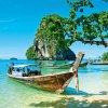 Samolepící fototapeta na podlahu - Thajská loďka, 170x170cm, 027