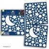 Dětská svítící samolepka - Hvězdy, měsíc, planetky, 31x31cm, 79223
