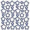 Pěnová samolepící dekorace Hvězdy, 28,5 x 28,5cm - svítící !!
