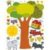 Strom,ovečka, pejsek - samolepící dětský obrázek - rozměr 65 x 85 cm