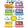 Dětská samolepící dekorace na zeď a nábytek - Vlak se zvířátky, ST1 002, 50x70cm