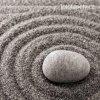 Samolepící velkoplošná nálepka - Zen kruhy, 100x100cm