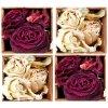 KP203 Set 4 ks korkových podložek 10,5 x 10,5 cm, Růže vintage