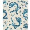 Vliesová tapeta na zeď Rasch 527940 - Modří draci, kolekce Barbara 0,53 x 10,05 m