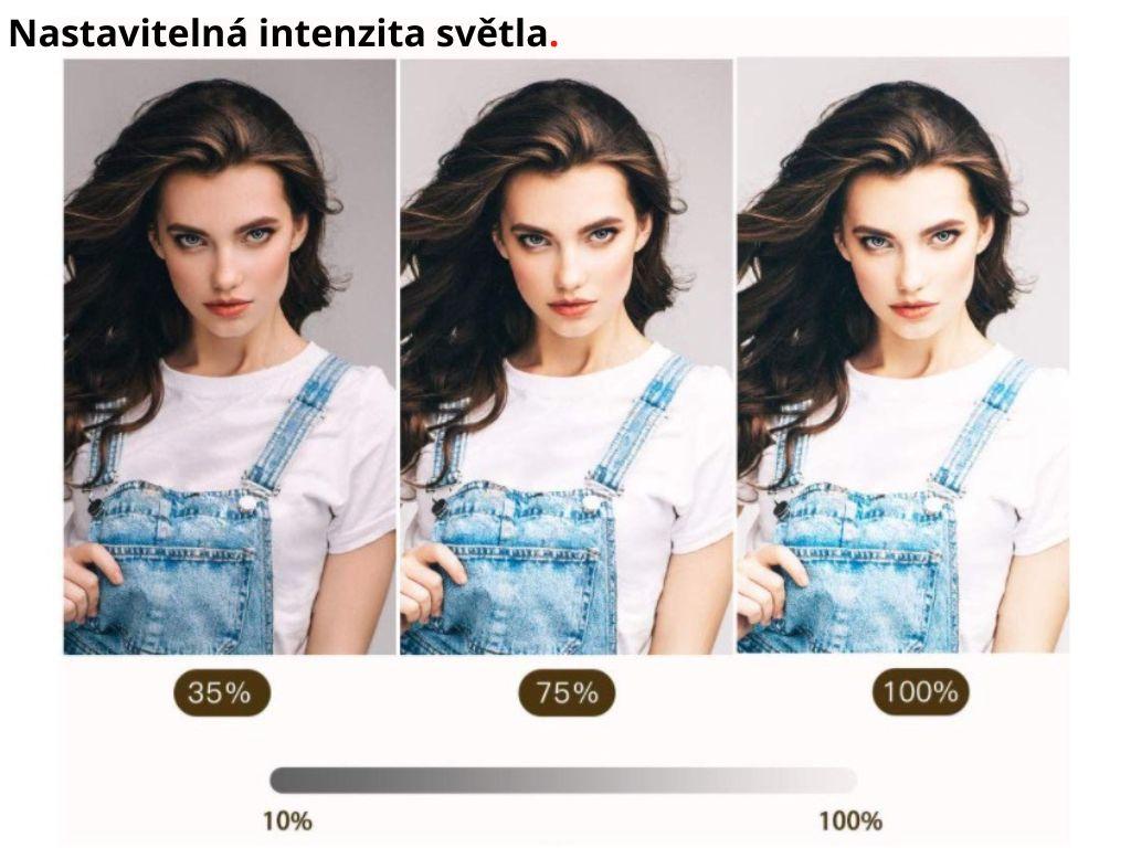 """26 cm Průměr 10"""" RGB Barevné Kruhové Foto Světlo + Stativ 170 cm + Ovladač"""